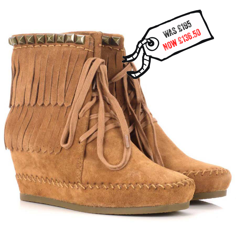 30 ash santa fe wedge moccasin boots the