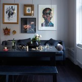 eclectic scandi home dining room