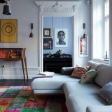 eclectic scandi home lounge 1