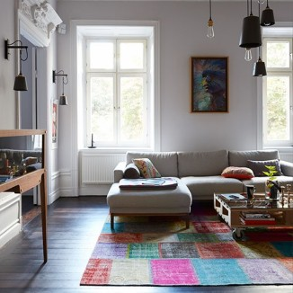 eclectic scandi home lounge